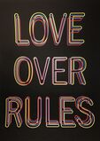 Hank Willis Thomas Love Over Rules Silk Screen Print Edition Of 100 Signed / Numbered