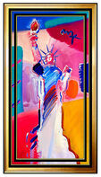 "Peter Max, 'Large 40""H PETER MAX original signed PAINTING STATUE OF LIBERTY Head DELTA USA', 21st Century"