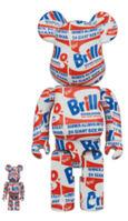 "BE@RBRICK, 'Bearbrick Andy Warhol ""BRILLO"" 100% & 400% Set', 2020"
