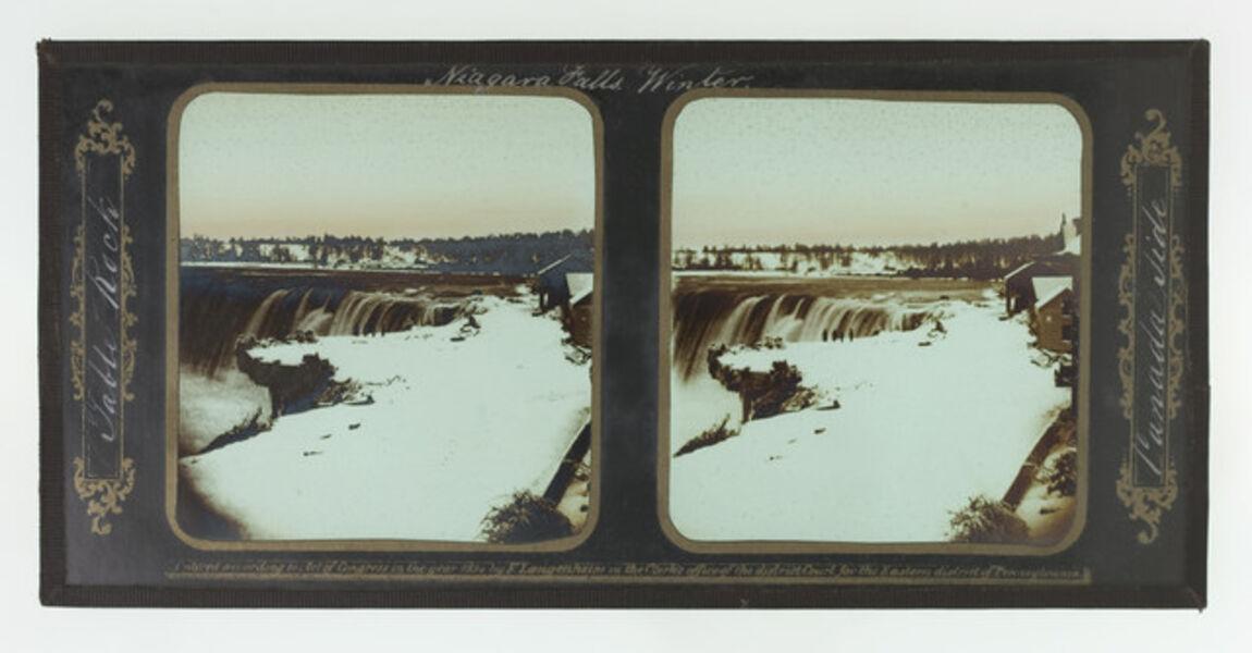 Frederick and William Langenheim, 'Winter, Niagara Falls, Table Rock, Canada Side', 1855
