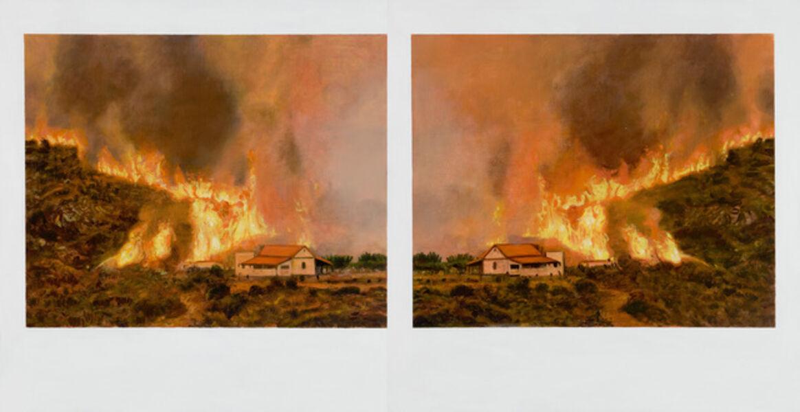 Ellen Harvey, 'Double (Wildfire)', 2012