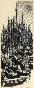 """Roger Martin, '1966 Woodcut """"Fleet"""" Modernist Print', 1960-1969"""