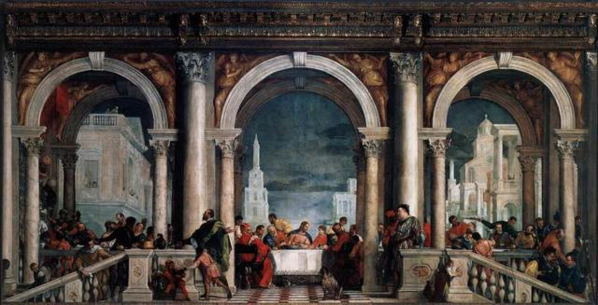 Paolo Veronese, 'Feast in the House of Levi, from the refectory of the Dominican Monastery of Santi Giovanni e Paolo, Venice', 1573