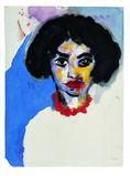 Frau T. mit roter Kette