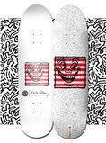 Keith Haring Skateboard Deck (Keith Haring three eyed face)