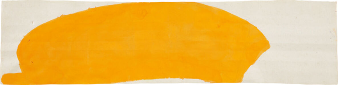 Suzan Frecon, 'orange composition on small long format', 2012