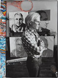 Andy Warhol at the Factory from Living Sculpture, October