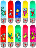 Keith Haring complete set of 10 skateboard decks