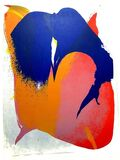 "Original Lithograph ""Composition"" by Paul Jenkins"