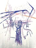 "Original Lithograph ""Knight"" by Wifredo Lam"