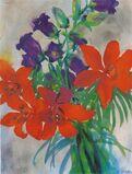 """""""Feuerlilien und Glockenblumen"""" (Fire Lillies and Bluebells)"""