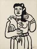 La femme au perroquet