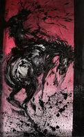 Richard Hambleton, 'Horse & Rider - Bucking Red', 2018