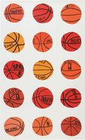 Jonas Wood, 'Untitled (Basketball Wallpaper)', 2013