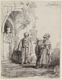 """THREE ORIENTAL FIGURES (also known as """"Jacob and Laban"""")"""