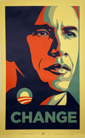 Shepard Fairey, ''Obama: Change'', 2008