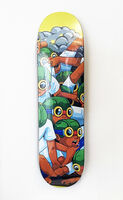 Hebru Brantley, ''Fly Boys' Skateboard Deck', 2019