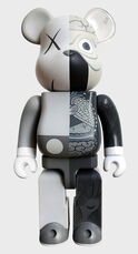KAWS Grey Dissected Bearbrick 400% Companion (KAWS dissected companion)