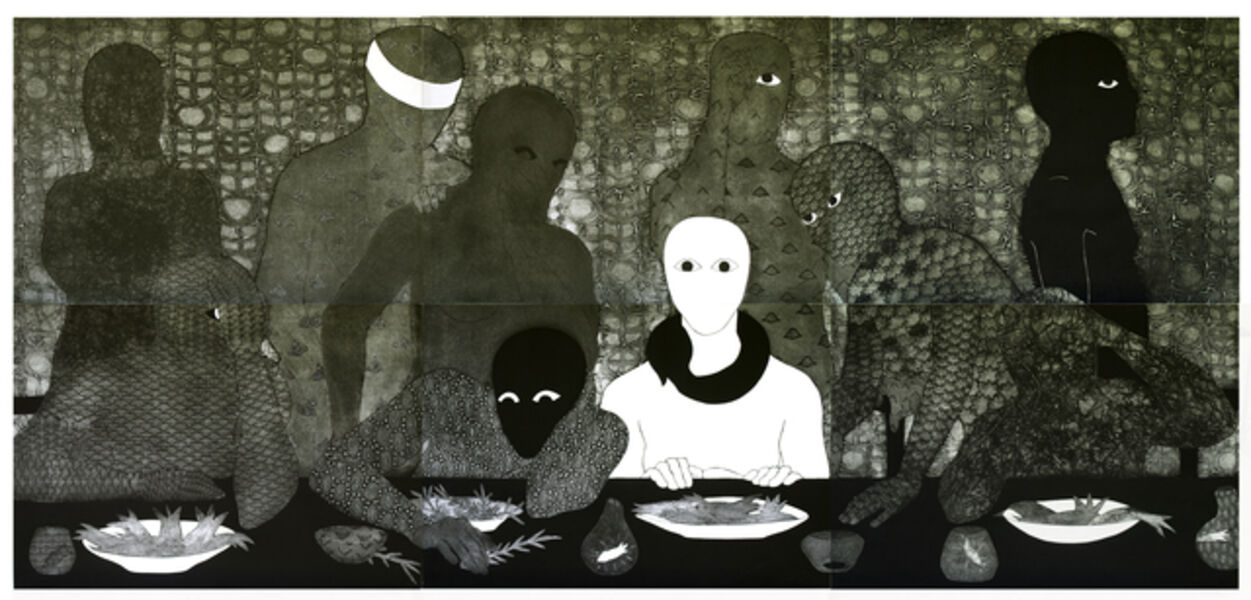 Belkis Ayón, 'La cena (The Supper)', 1991