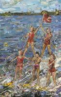 Vik Muniz, 'Postcards From Nowhere: Waterskiing', 2014