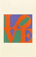 Robert Indiana, 'The Philadelphia Love (with Poetry: Wherefore The Punctuation. of the Heart)', 1975