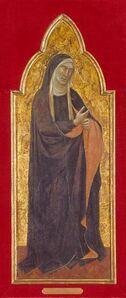Taddeo Gaddi, 'Mourning Virgin', about 1365