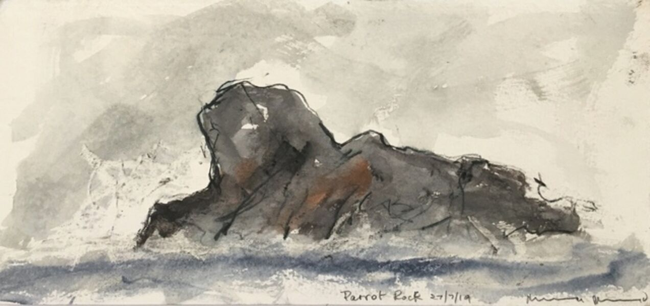 Norman Ackroyd, 'Parrot Rock', 2019