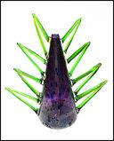 DALE CHIHULY Venetian Vase Sculpture Original Hand Blown Glass Signed Artwork
