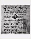 Works by Yoko Ono, poster, Carnegie Recital Hall, New York, November 24, 1961.