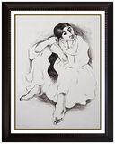 R C Gorman Lithograph Original SIGNED Rare Young NATIVE AMERICAN Women Art R.C.
