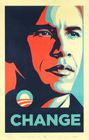 Shepard Fairey, 'CHANGE (artist signed edition of 200) Obama', 2008