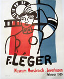 F. Leger, Museum Morsbroich, Leverkusen, Februar 1955 Original Poster, HOLIDAY SALE TAKE 20% OFF NEXT THREE WEEKS