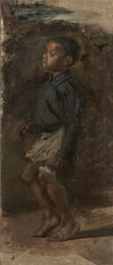 """Thomas Eakins, 'Study for """"Negro Boy Dancing"""": The Boy', probably 1877"""