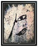 Jamali Original Fresco Tempura Painting Contemporary Abstract Portrait Signed
