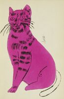 Andy Warhol, '25 Cats Name[d] Sam and One Blue Pussy (F. & S. IV.52A - 68A)', circa 1954