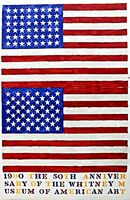 Jasper Johns, '50th Anniversary of the Whitney Museum of American Art in New York City (Two Flags)', 1979