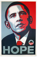 Shepard Fairey, 'HOPE (hand signed paster version)', 2008