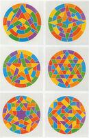 Sol LeWitt, 'Tondo Stars Set of 6', 2002
