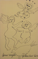 Andy Warhol, 'Some angels up there love her from Holy Cats by Andy Warhol's Mother', ca. 1957