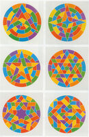Sol LeWitt, 'Tondo Stars, Set of Six', 2002