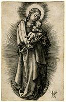 Albrecht Dürer, 'Virgin and Child on the Crescent with Diadem', 1514