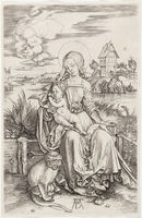 Albrecht Dürer, 'Madonna and Child with the Monkey', ca. 1498