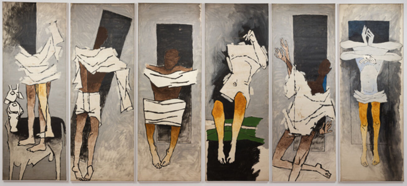 "M. F. Husain, 'Untitled (After ""Gandhi""), also known as The Attenborough Panels', ca. 1983"