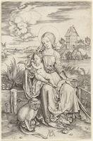 Albrecht Dürer, 'MADONNA AND CHILD WITH THE MONKEY', ca. 1498