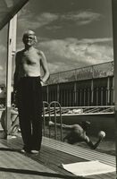Helmut Newton, 'David Hockney, Piscine Royale, Paris, France', 1975