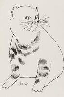 Andy Warhol, 'Sam (from Twenty-five cats name(d) Sam and one blue pussy) (Feldman and Schellmann IV.61B)', ca. 1954