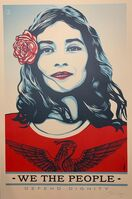 "Shepard Fairey, 'Defend Dignity 2017 ""We The People"" Signed Edition ', 2017"