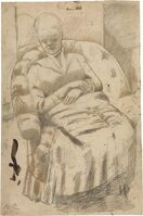 """Mary Cassatt, 'Drawing for """"The Round-Backed Armchair""""', ca. 1881"""