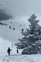 Slim Aarons, 'Skiing In Vail III (Estate Edition)', 1964
