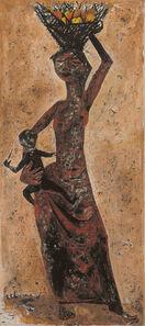 Krishen Khanna, 'Woman with a Basket of Fruit', 1957